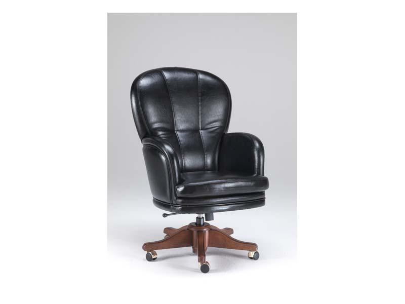 Kent 1, Fauteuil classique en cuir, pour les bureaux de direction