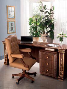 Modigliani chaise de bureau, Fauteuil de bureau en cuir