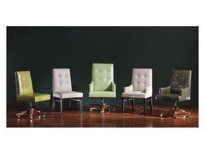 Star 2, Precious chaise de bureau dans un style classique, pour un mobilier de luxe