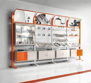 Contemporary - unité murale modulaire pour les magasins de produits ménagers, Présentoirs muraux modulaires pour les magasins d'articles ménagers