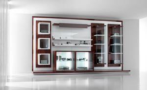 Revolution - présentoirs pour magasins de téléphonie et hi-fi, Meubles d'exposition pour magasins, avec vitrines et étagères