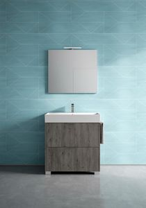 Basic comp.08, Armoire de toilette indépendante, avec de petites dimensions