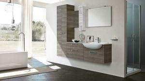 BLUES BL-01, Meuble de salle de bain avec colonne à deux portes