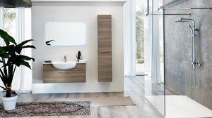 BLUES BL-02, Meuble de salle de bain complet avec colonne de rangement