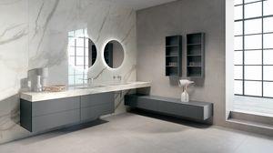BLUES BL2.04, Meuble complet pour salle de bain avec double vasque