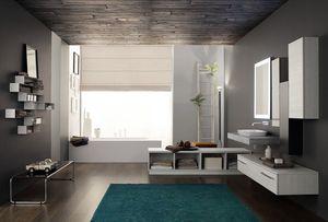 Byte 2.0 comp.01, Meuble de salle de bain avec dessus en graphite
