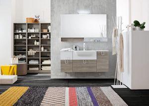 Byte 2.0 comp.02, Meuble pour salle de bain avec miroir et étagère