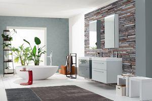 Byte 2.0 comp.03, Meuble pour salle de bain avec tiroirs avec poignée