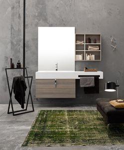 Byte 2.0 comp.04, Meuble pour salle de bain mural avec étagères de rangement