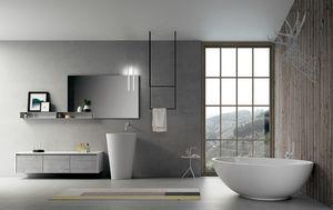 Dress 2.0 comp.01, Composition de la salle de bain avec miroir et étagère