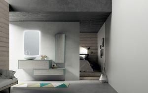 Dress 2.0 comp.02, Unité de salle de bain modulaire avec unités murales