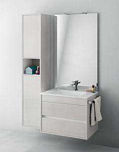 Duetto comp.06, Mobilier de salle de bain compact avec porte-serviettes