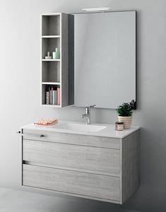 Duetto comp.09, Meuble pour salle de bain compact avec tiroirs