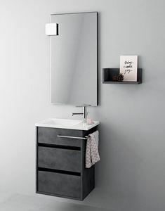 Duetto comp.15, Armoire de salle de bain peu encombrante, style moderne