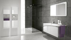 FLY 01, Meubles de salle de bain avec colonnes murales