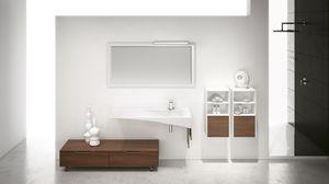 FLY 12, Meuble de salle de bain avec meuble à roulettes