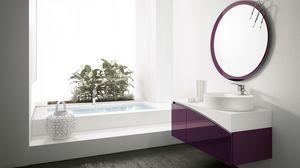 FLY 13, Meuble de salle de bain avec miroir rond