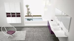 FLY 14, Solution d'ameublement de salle de bains avec double évier