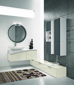 FLY 15, Meuble pour salle de bain avec 2 tiroirs avec poignée