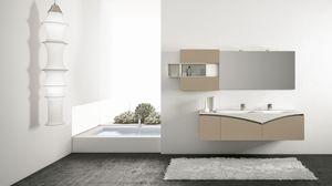 FLY 02, Meuble de salle de bain avec des armoires avec ouverture de piston