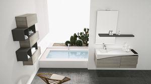 FLY 07, Meubles complets pour salles de bains avec des unités de mur