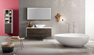 Kami comp.02, Armoire de salle de bain modulable avec vasque à poser