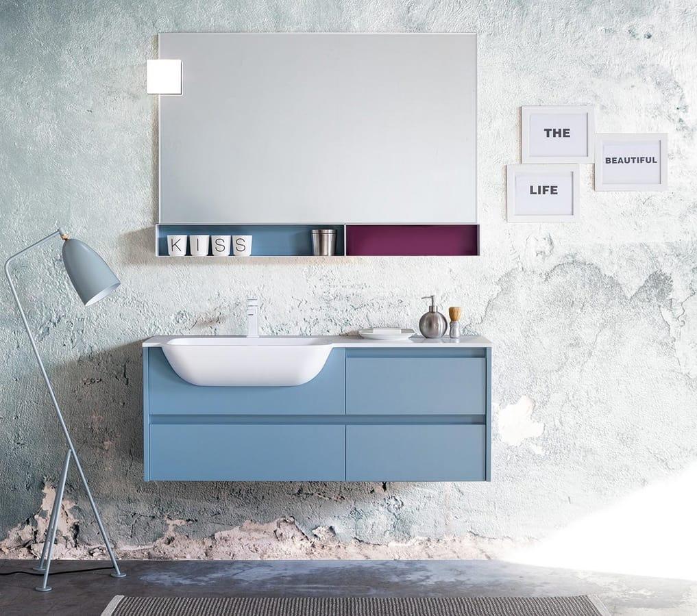 meuble de salle de bain aux dimensions personnalisables idfdesign. Black Bedroom Furniture Sets. Home Design Ideas