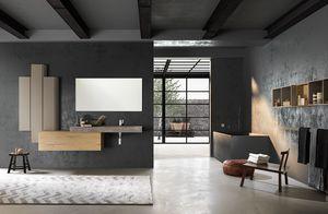 Lime 1.0 comp.01, Armoire de salle de bains avec design essentiel