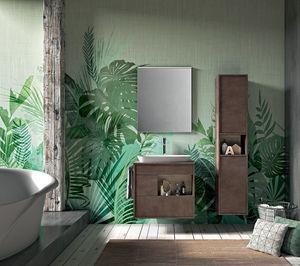 Lume comp.08, Meubles de salle de bain en chêne avec tiroirs