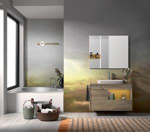 Lume comp.10, Composition de la salle de bain avec lavabo et baignoire