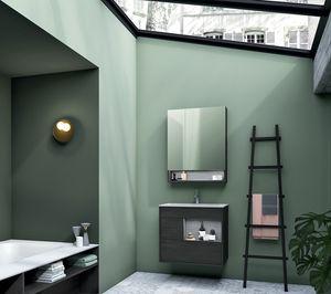 Lume comp.12, Meuble de salle de bain en bois, style moderne