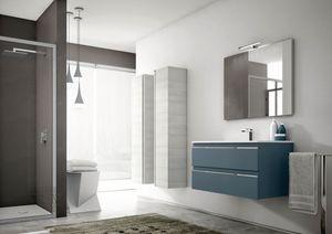 Mistral comp.04, Meubles de salle de bain modernes, avec colonnes de rangement