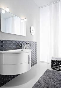 Moon comp.01, Cabinet de salle de bain en forme de demi-forme