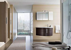 Moon comp.09, Meuble de salle de bain avec cabinet miroir