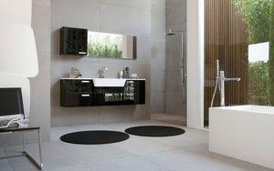 My Fly Evo comp.05, Meubles de salle de bains contemporains à faible profondeur