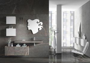 Plane Grés 02, Meubles de salle de bain avec façades Grés