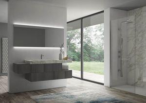 Sense comp.07, Meubles de salle de bain avec miroir rétro-éclairé
