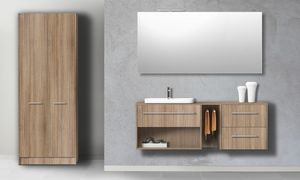 Singoli S 33, Armoire de toilette en finition orme noisette