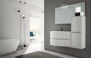 Smyle comp.03, Meuble de salle de bain avec un design sinueux