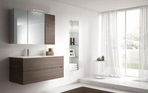 Smyle comp.06, Armoire de salle de bains avec unité de paroi miroir