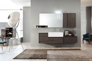 Tender comp.07, Meuble pour salle de bain avec tiroirs et porte