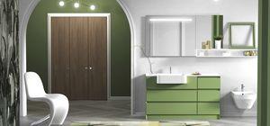 Torana TR 020, Armoire de toilette verte avec tiroirs