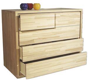 3+2, Commode en bois à tiroirs décalés
