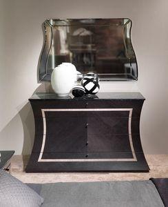 CO27B Cartesio commode, Commode avec dessus en marbre, en bois