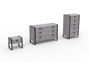 Elvis Groupe, Mobilier moderne pour chambre à coucher, la structure de fer, tiroirs en bois