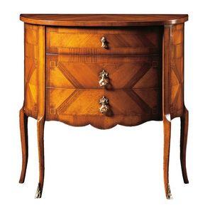 Emanuele FA.0060, Comoncino avec trois tiroirs, style de luxe classique.