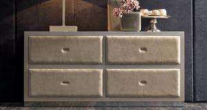 Keope Art. 400, Coffre � tiroirs recouvert de cuir
