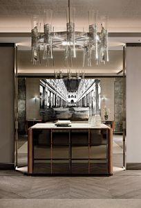 LEXINGTON AVENUE Vaisselier, Commode de luxe avec dessus en marbre