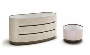Mirto 2 groupe, Table de chevet et une commode adaptés aux chambres modernes