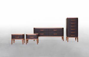 TIFFANY NIGHT, Armoires de chambre à coucher en bois et cuir